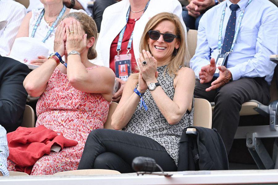 Anne Gravoinà Roland-Garros le 4 juin 2019