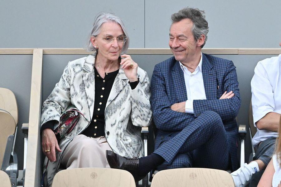 Michel Denisot et sa femme Martineà Roland-Garros le 4 juin 2019
