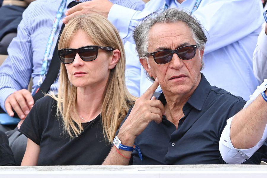 Richard Berry et sa femme Pascale Louange à Roland-Garros le 4 juin 2019