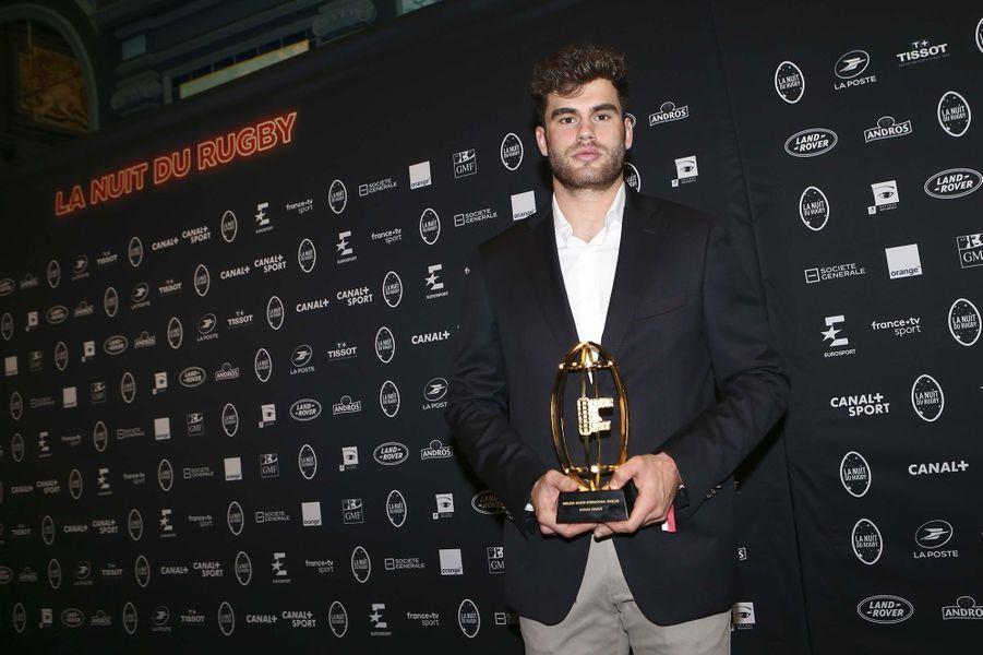 Damian Penaudà la 16e Nuit du Rugby à Paris le 25 novembre 2019