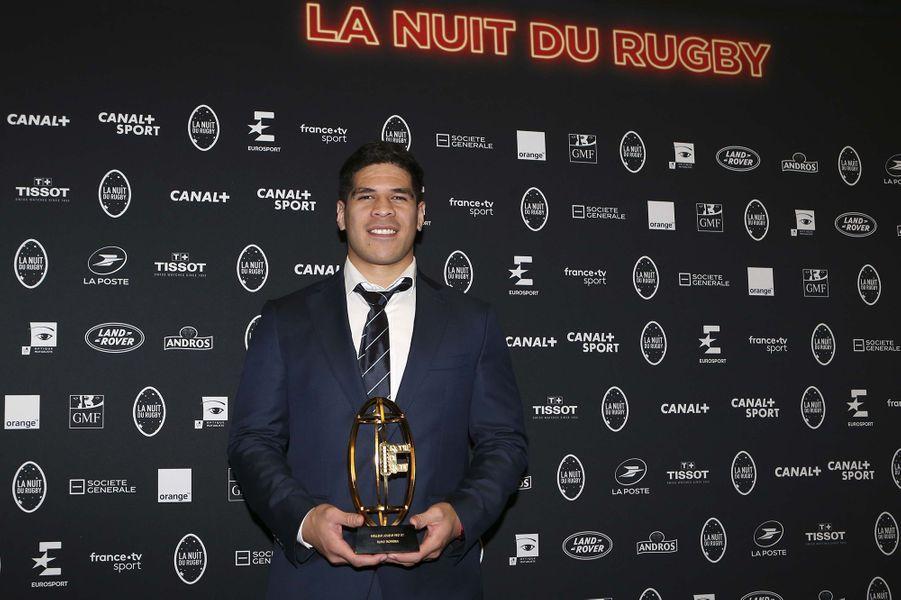 Filimo Taofifénuaà la 16e Nuit du Rugby à Paris le 25 novembre 2019