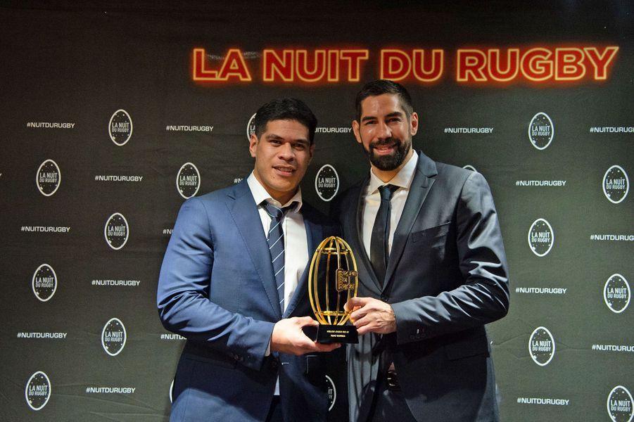 Filimo Taofifénua et Nikola Karabaticà la 16e Nuit du Rugby à Paris le 25 novembre 2019