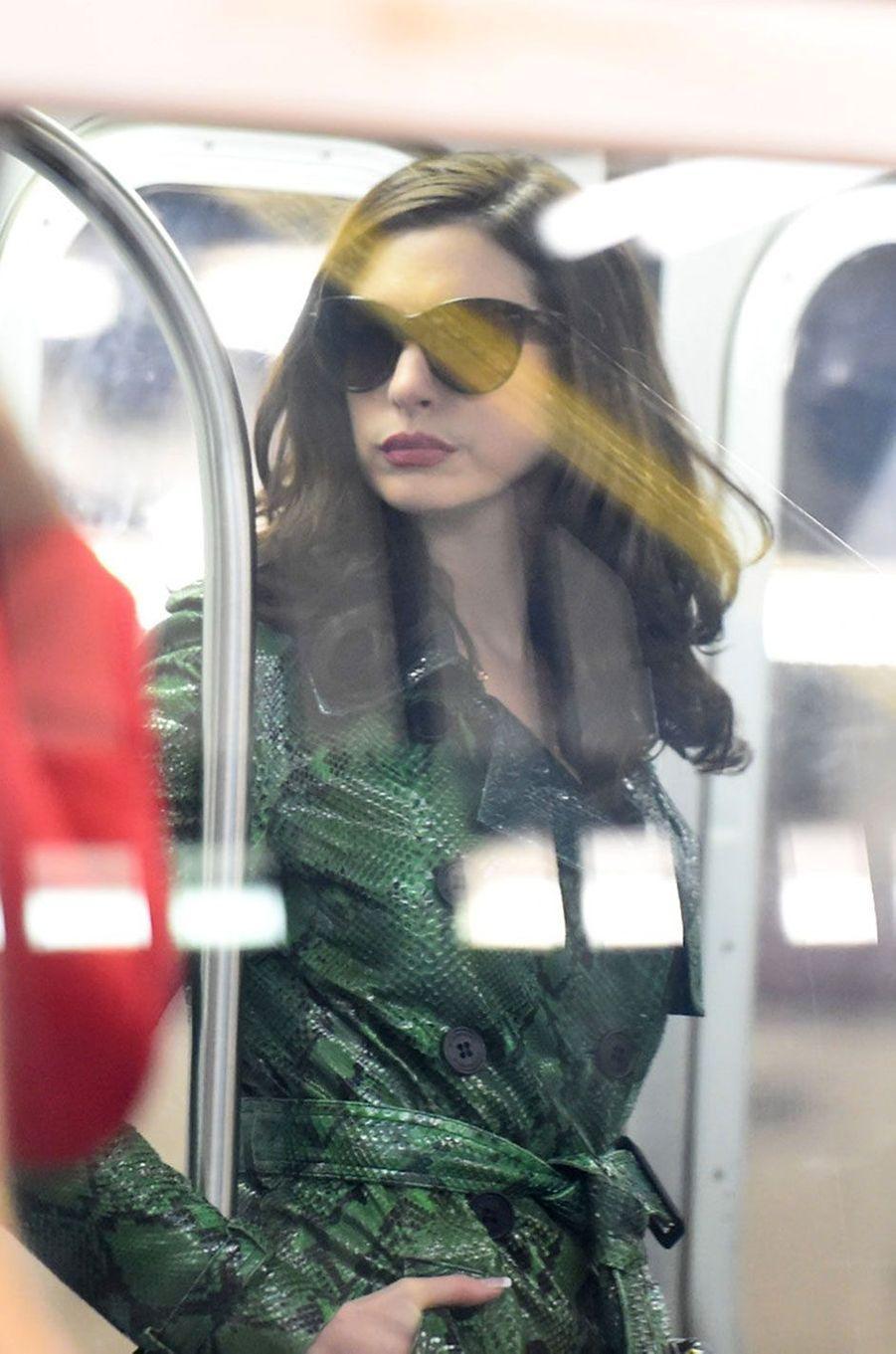 """Anne Hathaway sur le tournage de """"Ocean's Eight"""""""