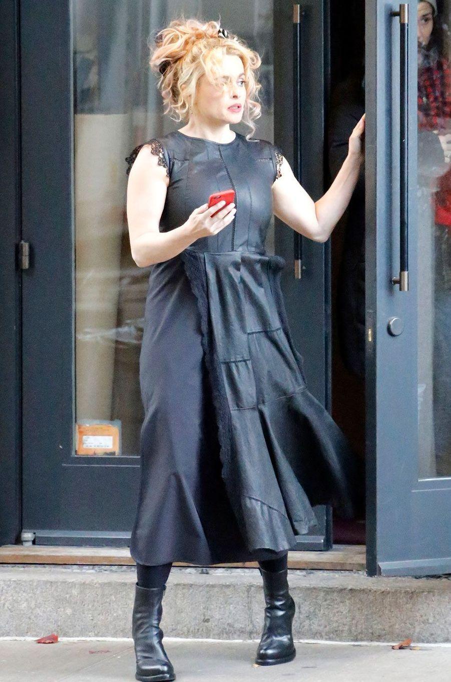 "Helena Bonham Carter sur le tournage de ""Ocean's Eight"""