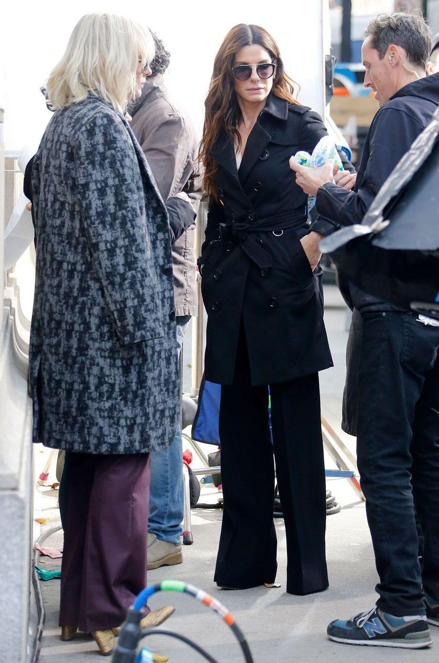 "Cate Blanchett et Sandra Bullock sur le tournage de ""Ocean's Eight"""