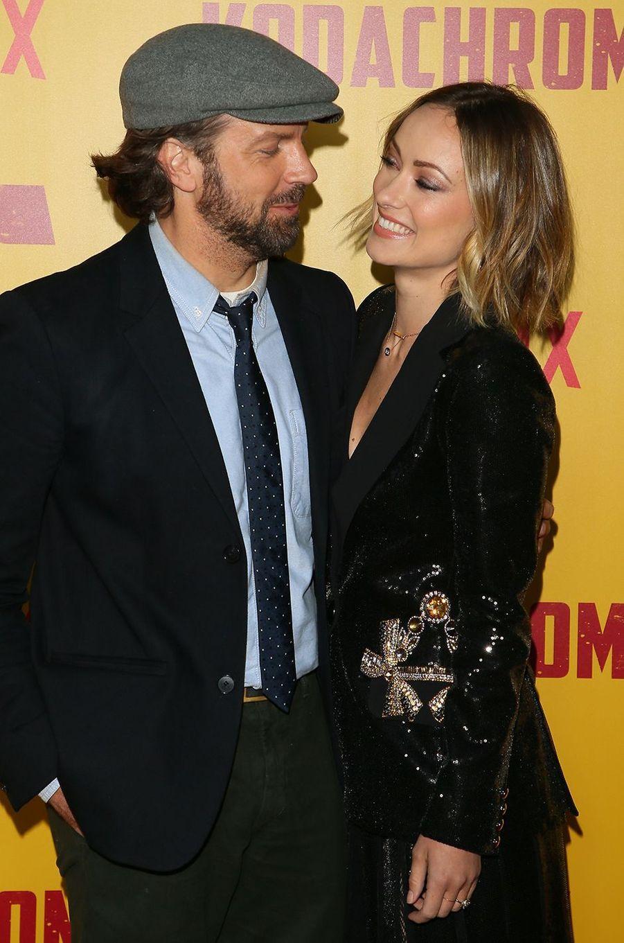 Jason Sudeikis et Olivia Wilde à la première du film Netflix «Kodachrome» à Hollywood en avril 2018
