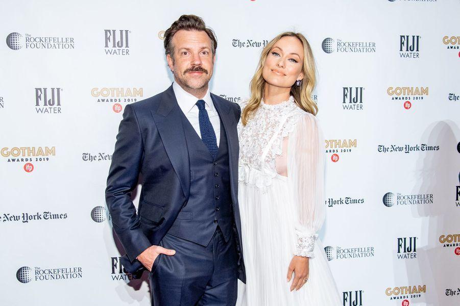 Jason Sudeikis et Olivia Wilde aux Gotham Awards à New York en décembre 2019