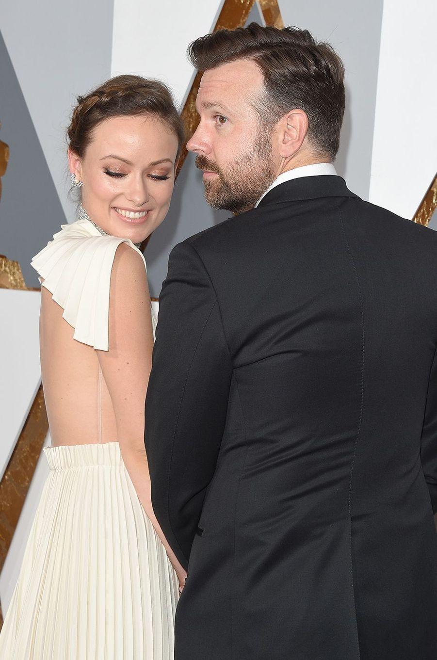 Olivia Wilde et Jason Sudeikis aux Oscars à Los Angeles en février 2016