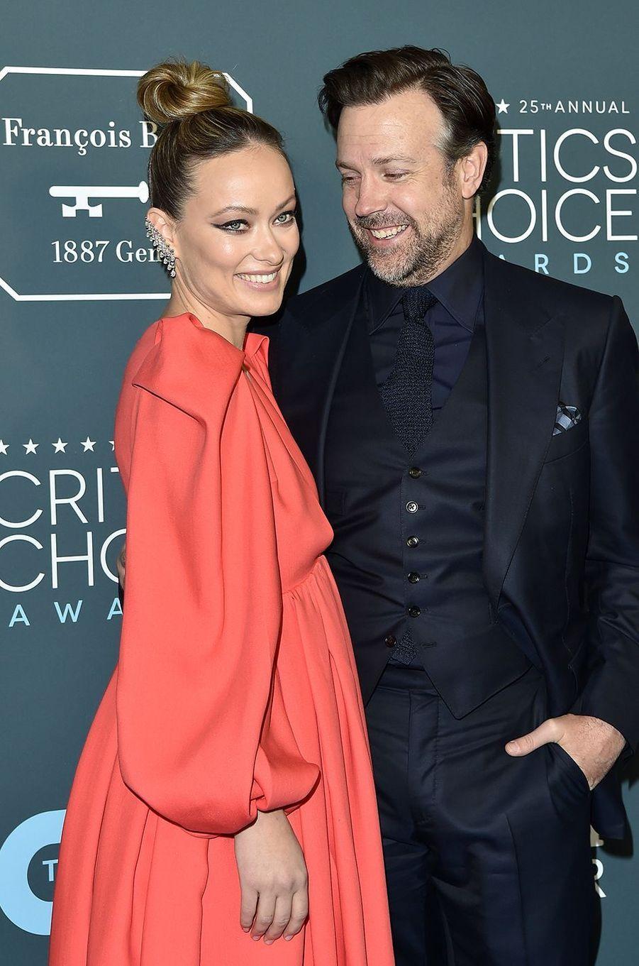 Olivia Wilde et Jason SudeikisCritics' Choice Awards à Santa Monica en janvier 2020