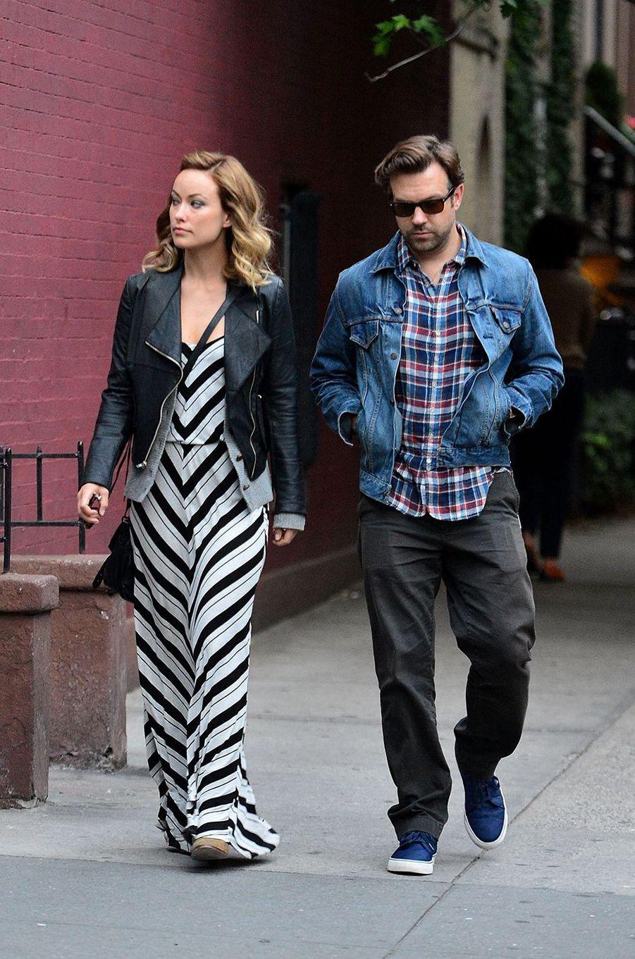 Olivia Wilde et Jason Sudeikis de sortie à New York en juin 2012