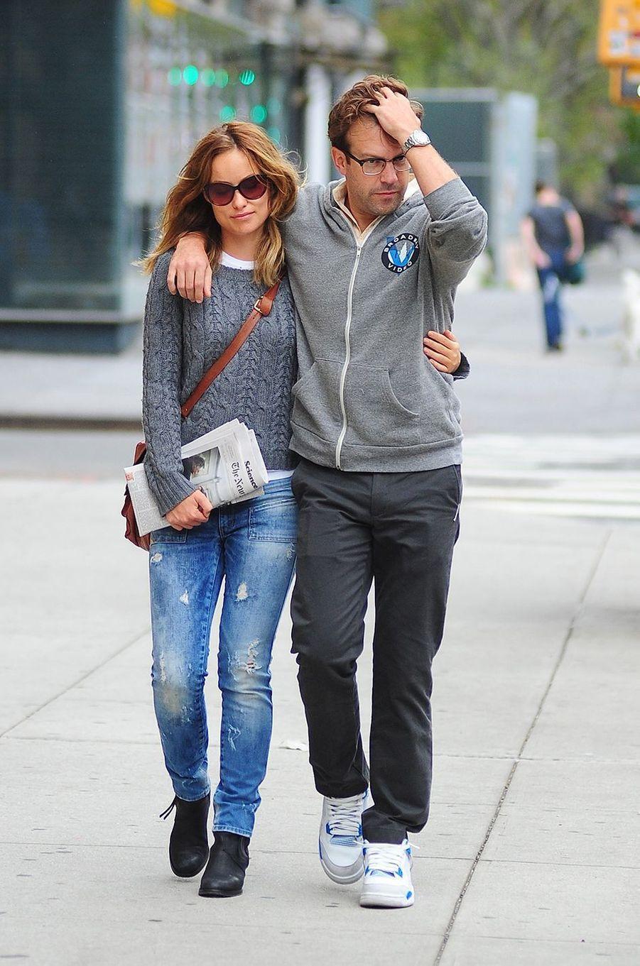 Olivia Wilde et Jason Sudeikis de sortie à New York en septembre 2012