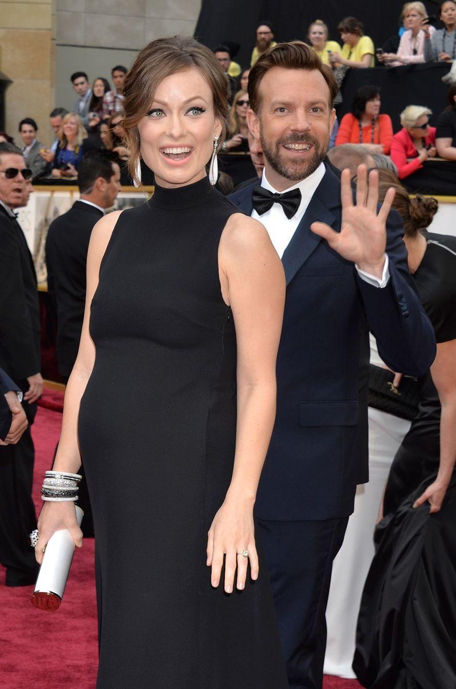 Olivia Wilde et Jason Sudeikis aux Oscars à Los Angeles en mars 2014