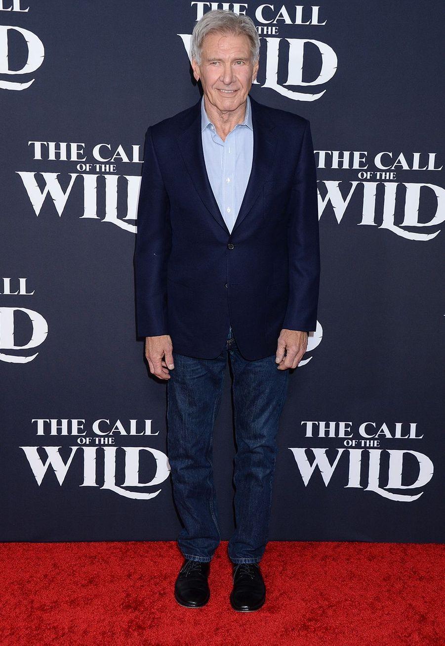 Harrison Fordà l'avant-première du film «The Call of the Wild» («L'Appel de la forêt») à Los Angeles le 13 février 2020