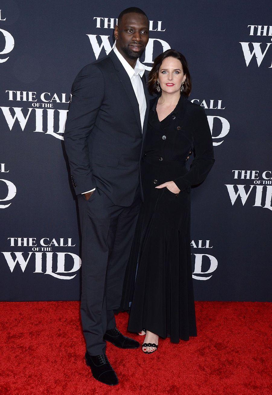 Omar et Hélène Syà l'avant-première du film «The Call of the Wild» («L'Appel de la forêt») à Los Angeles le 13 février 2020