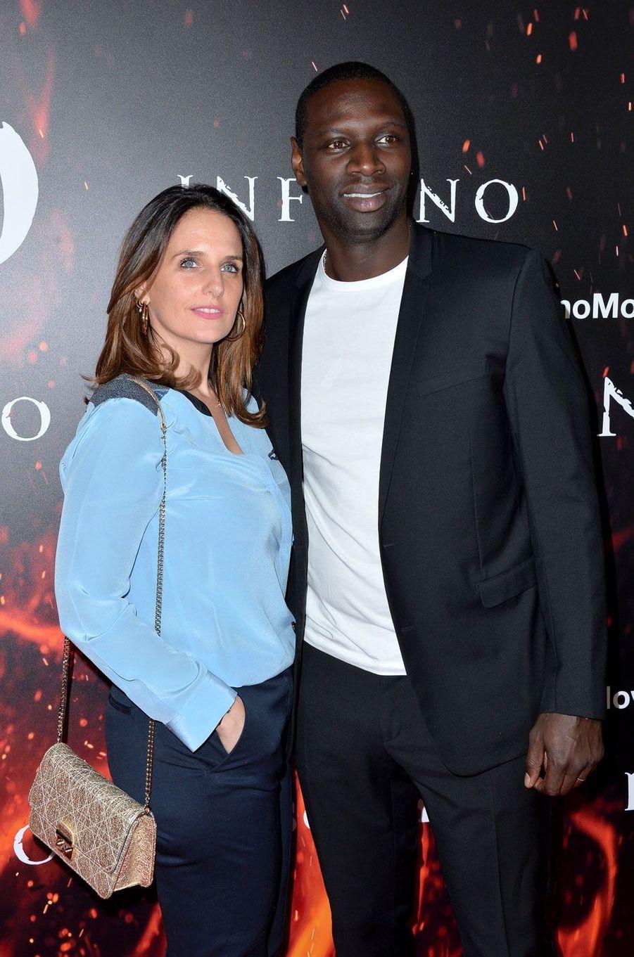 """Omar Sy et sa femme Hélène à l'avant-première de """"Inferno"""" à Los Angeles"""