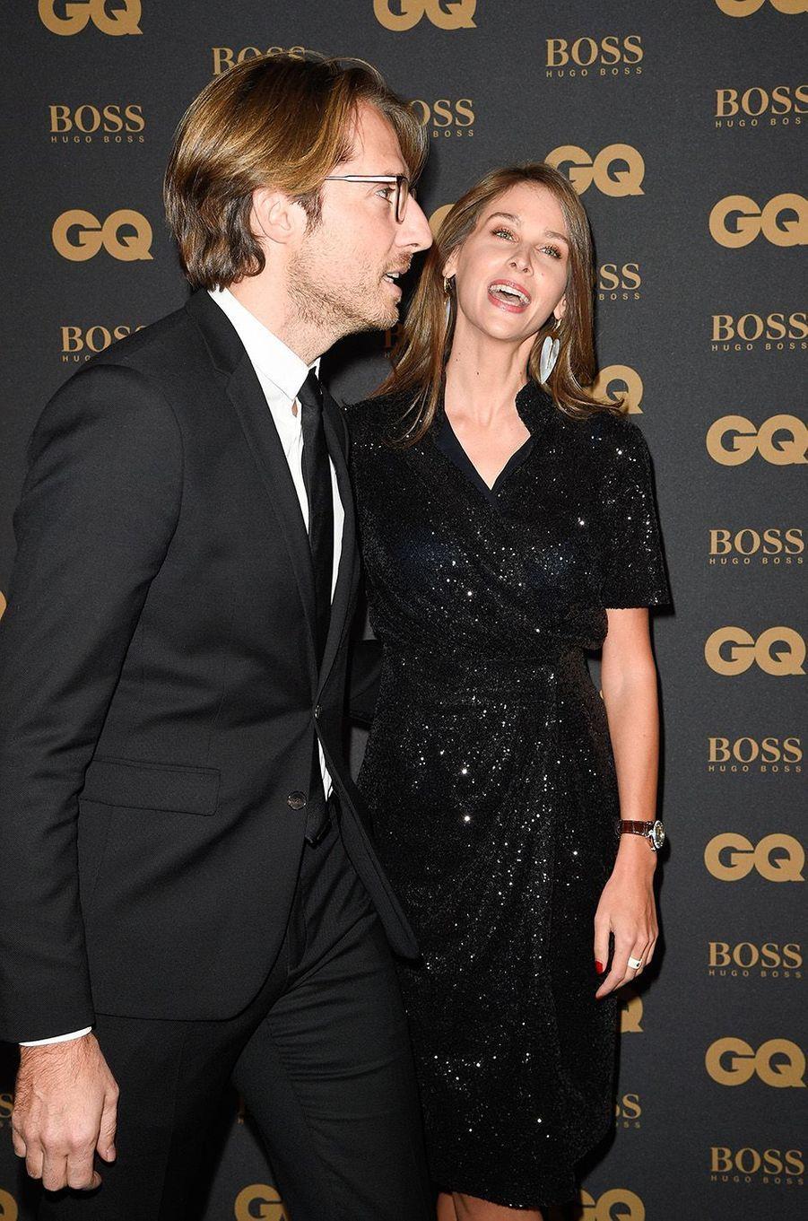 Ophélie Meunier et Mathieu Vergne à la soirée GQ, le 15 novembre 2017.