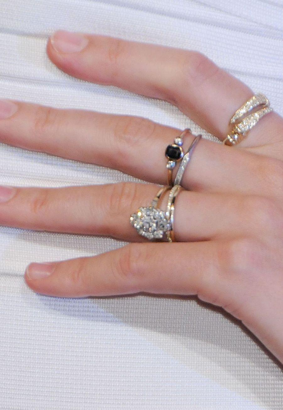 La bague de fiançailles de Miranda Kerr offerte par Orlando Bloom, ici en 2011