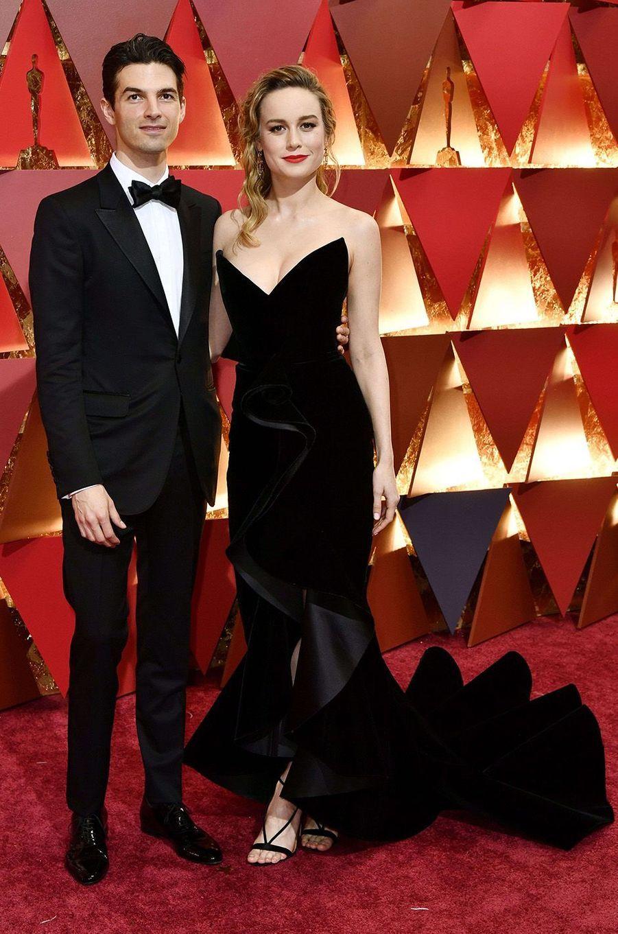 Brie Larsson et son compagnon.