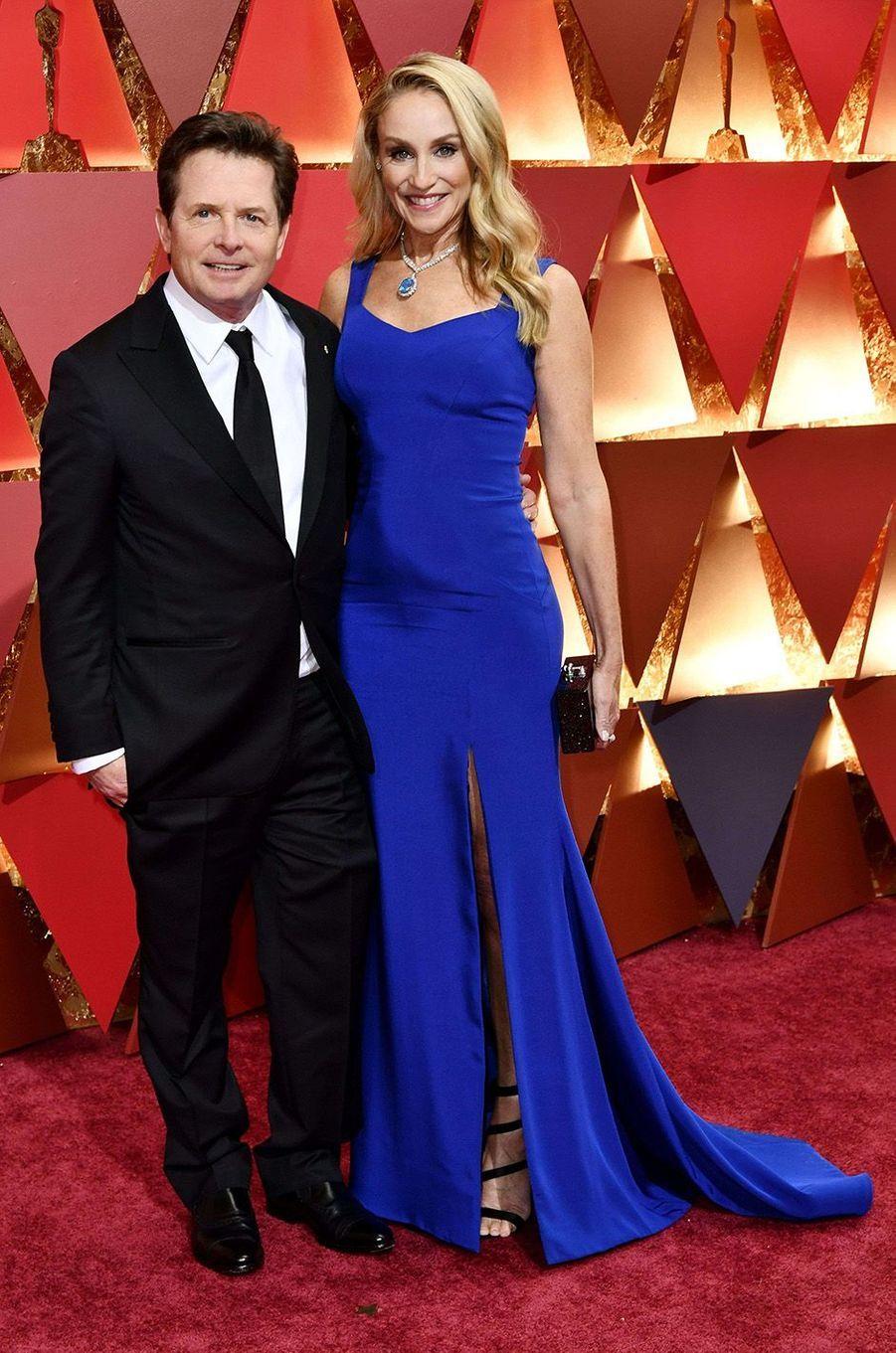 Michael J. Fox et sa femme.