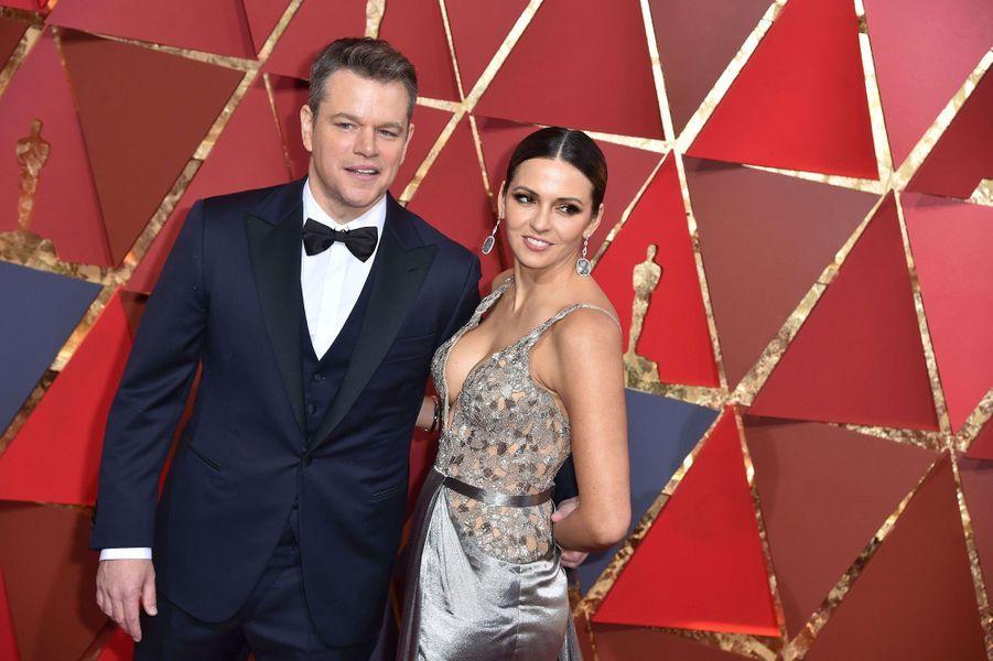 Matt Damon et Luciana Barroso.