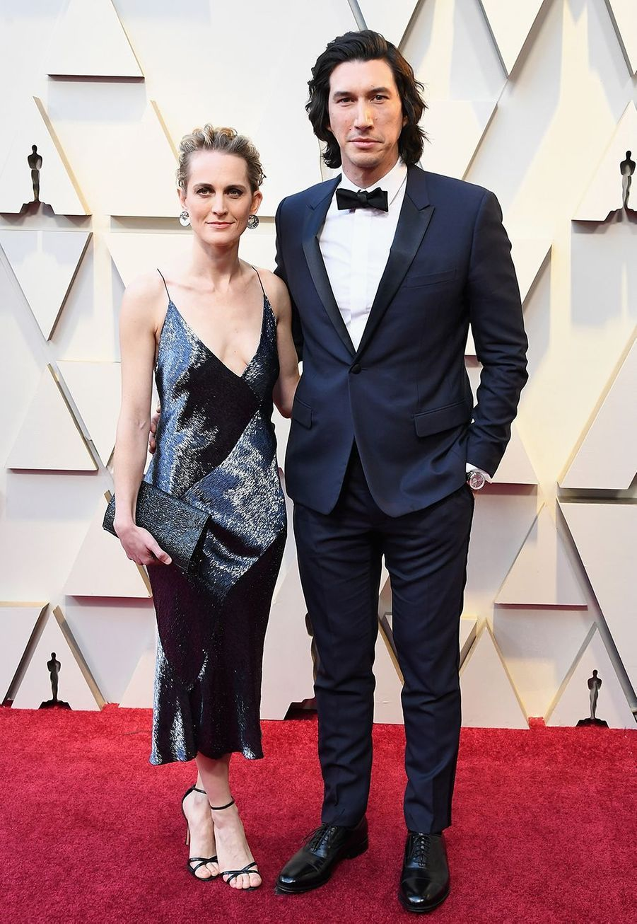 Adam Driver (avec son épouse Joanna Tucker) aux Oscars en 2019