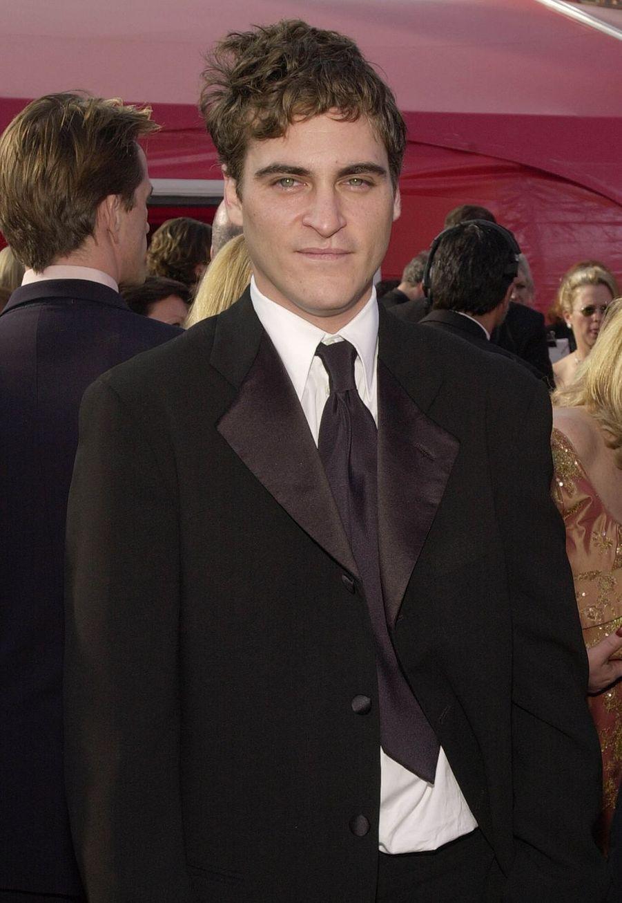 Joaquin Phoenix aux Oscars en2001