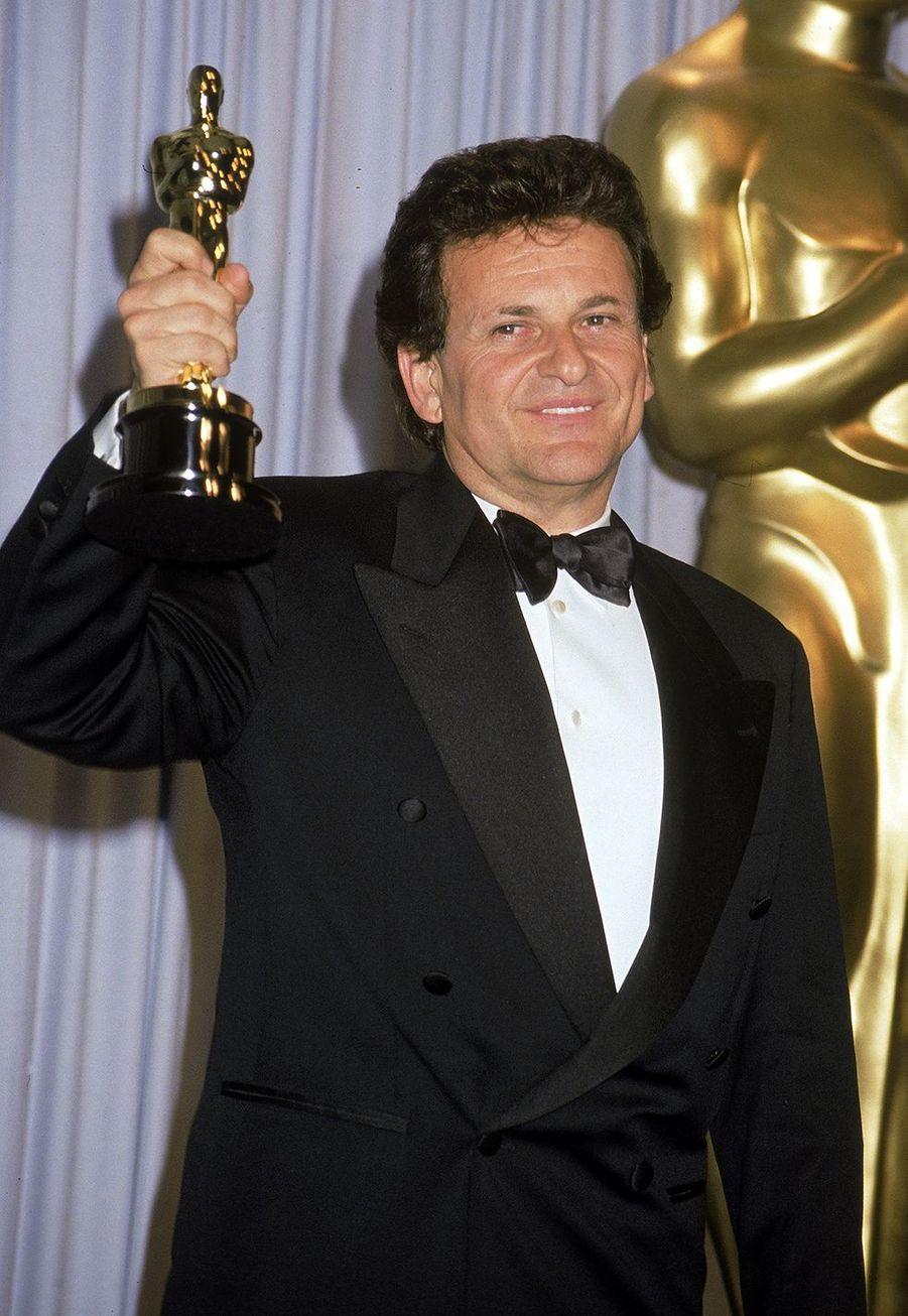 Joe Pesci (meilleur acteur dans un second rôle pour «Les Affranchis») aux Oscars en1991