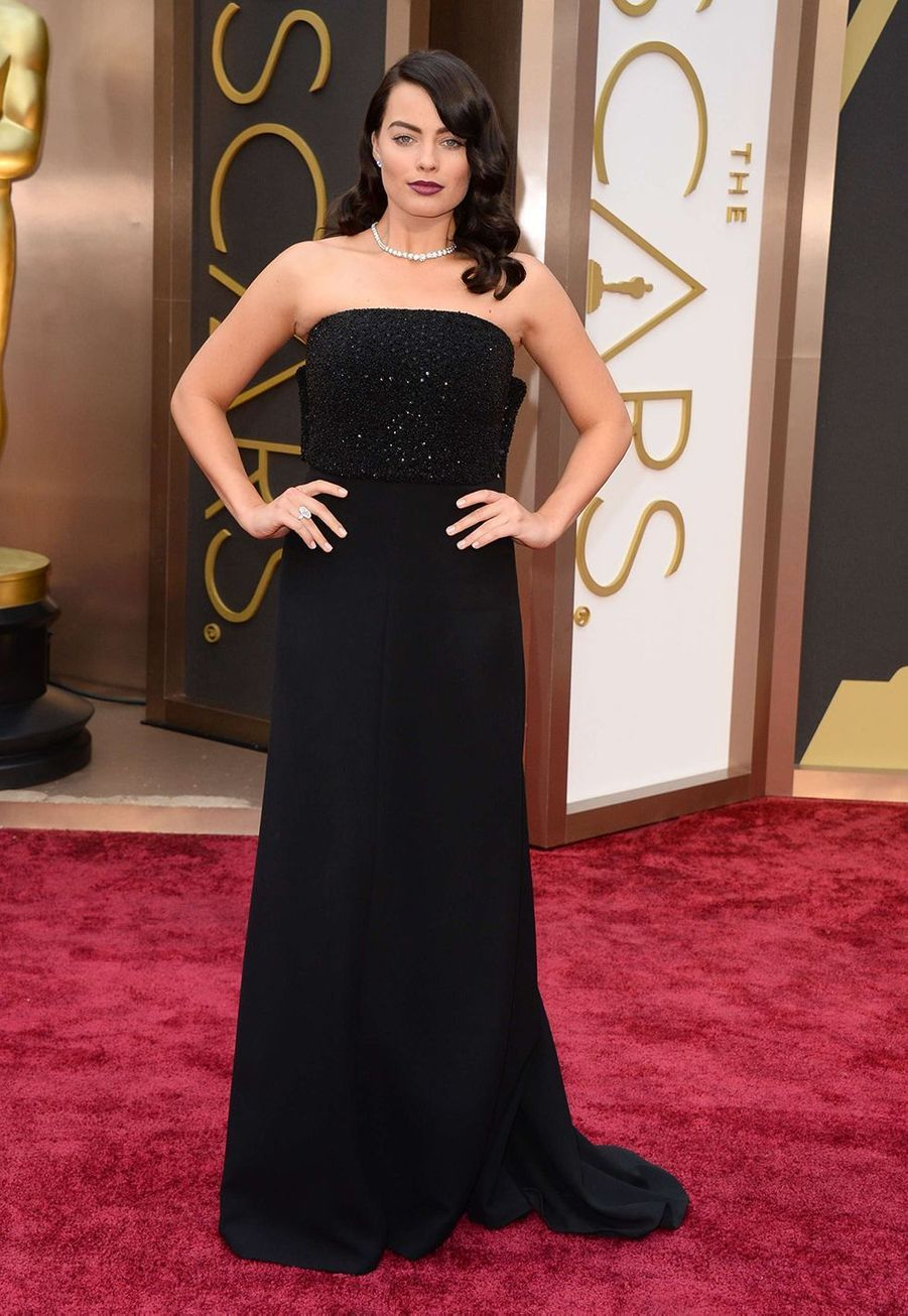 Margot Robbie aux Oscars en 2014