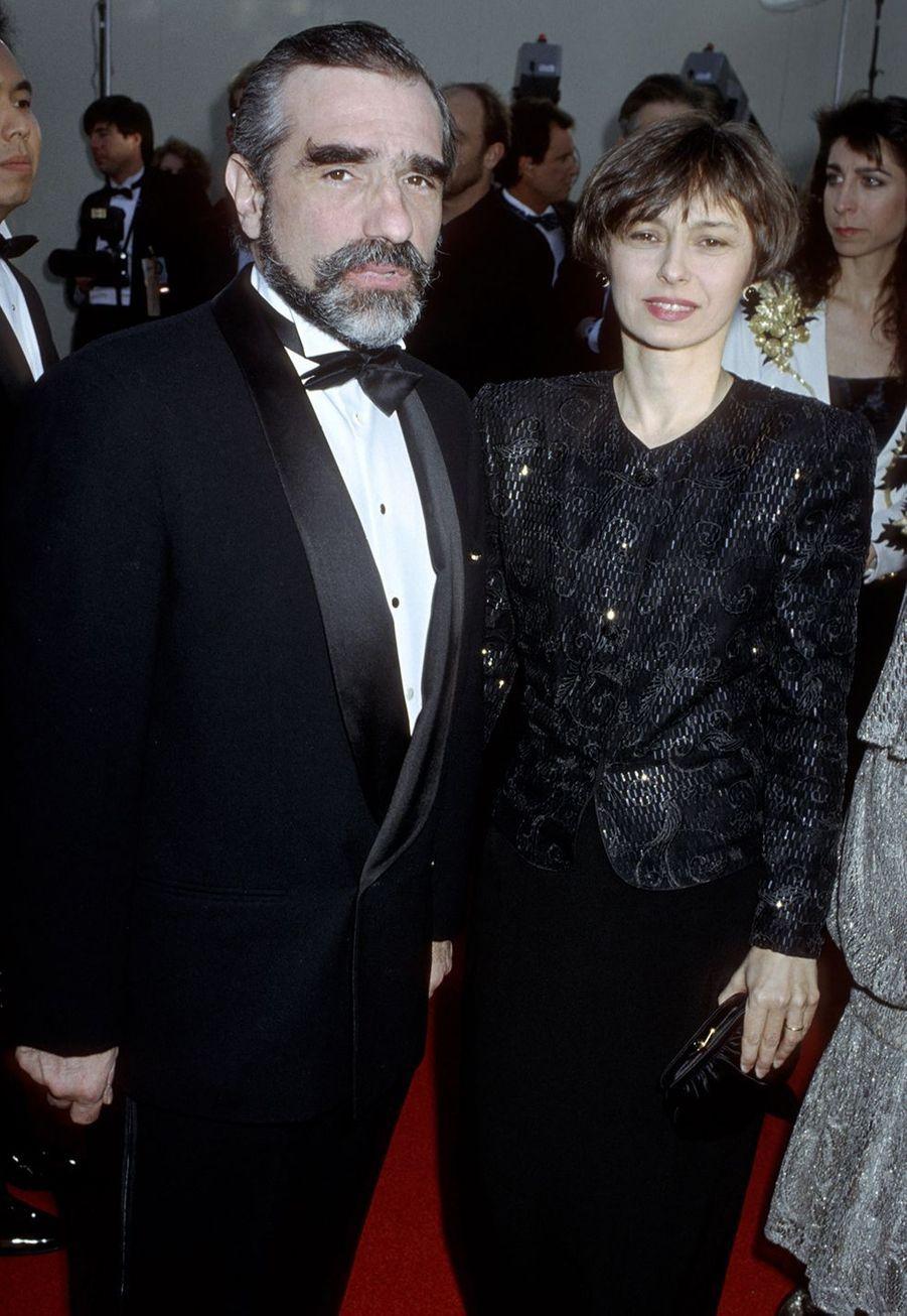 Martin Scorsese (avec son épouse d'alors Barbara De Fina) aux Oscars en1990