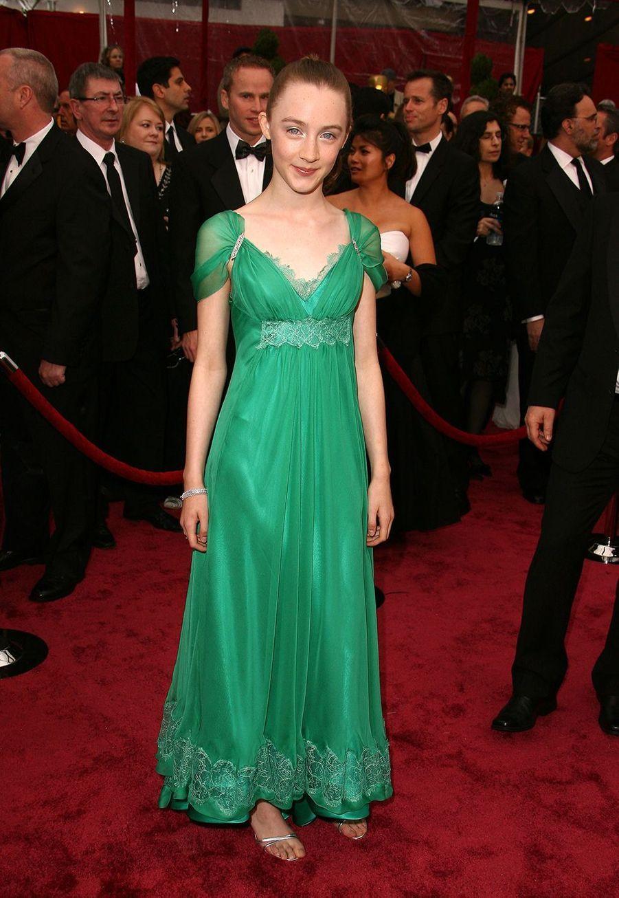 Saoirse Ronan aux Oscars en 2008