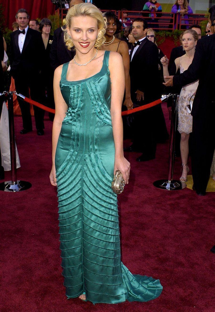 Scarlett Johansson aux Oscars en 2002