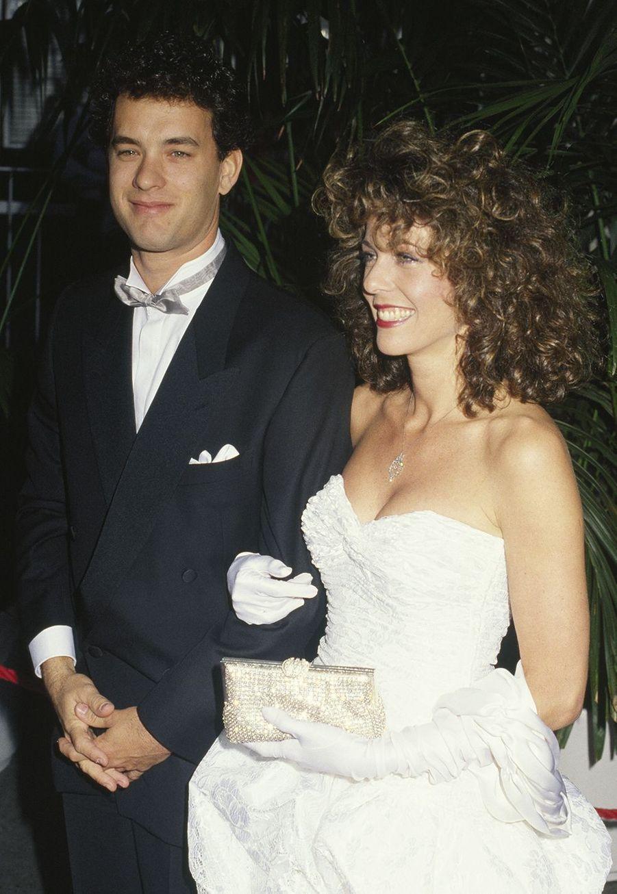 Tom Hanks (avec son épouse Rita Wilson) aux Oscars en1987