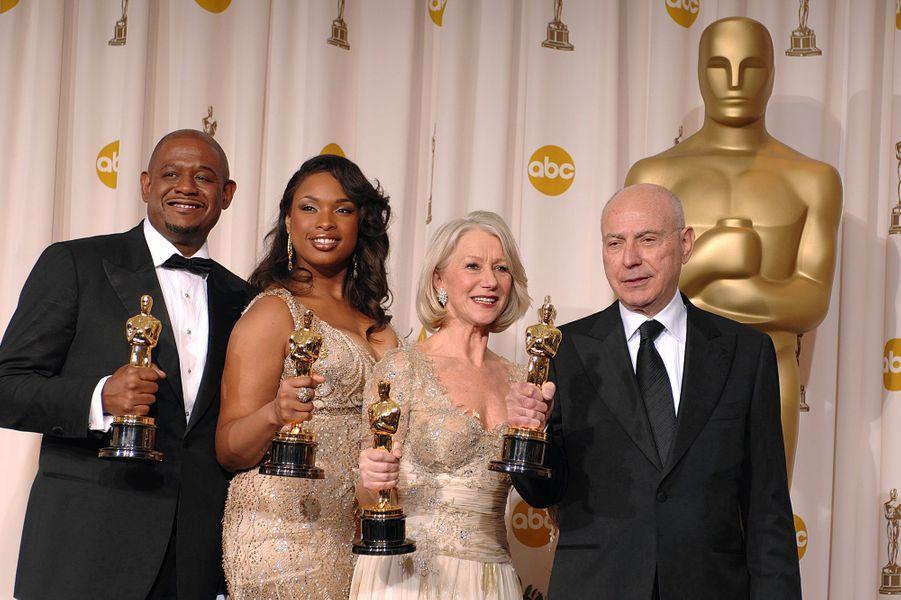 """2007 : Forest Whitaker (meilleur acteur dans """"Le Dernier Roi d'Écosse""""), Jennifer Hudson (meilleure second rôle dans """"Dreamgirls""""), Helen Mirren (meilleure actrice dans """"The Queen"""") et Alan Arkin (meilleur second rôle pour """"Little Miss Sunshine"""")"""