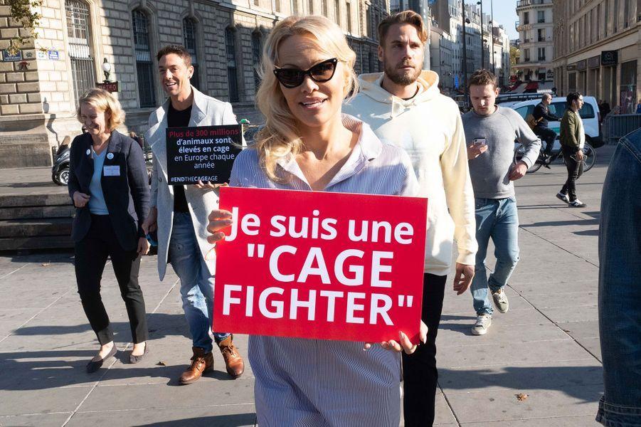 Pamela Anderson mercredi à Paris