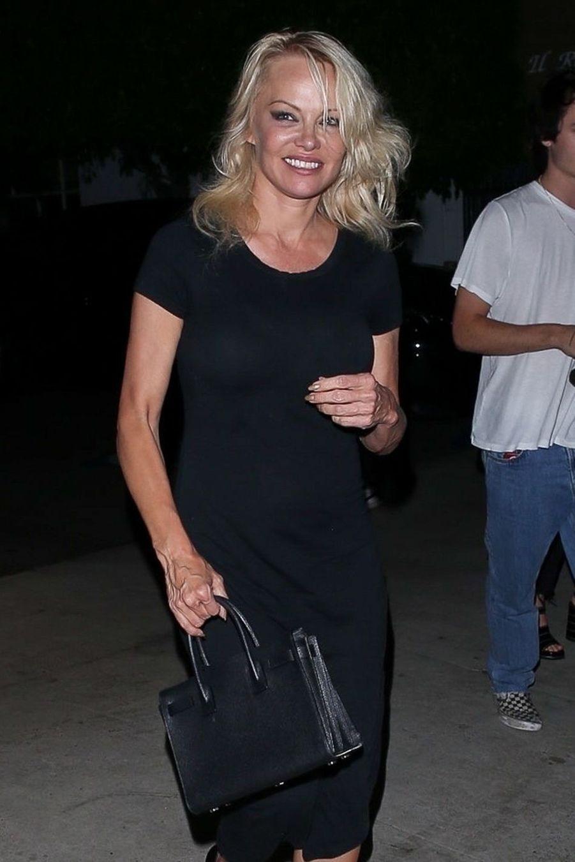 Pamela Anderson et son fils Dylanà Los Angeles le 14 août 2019