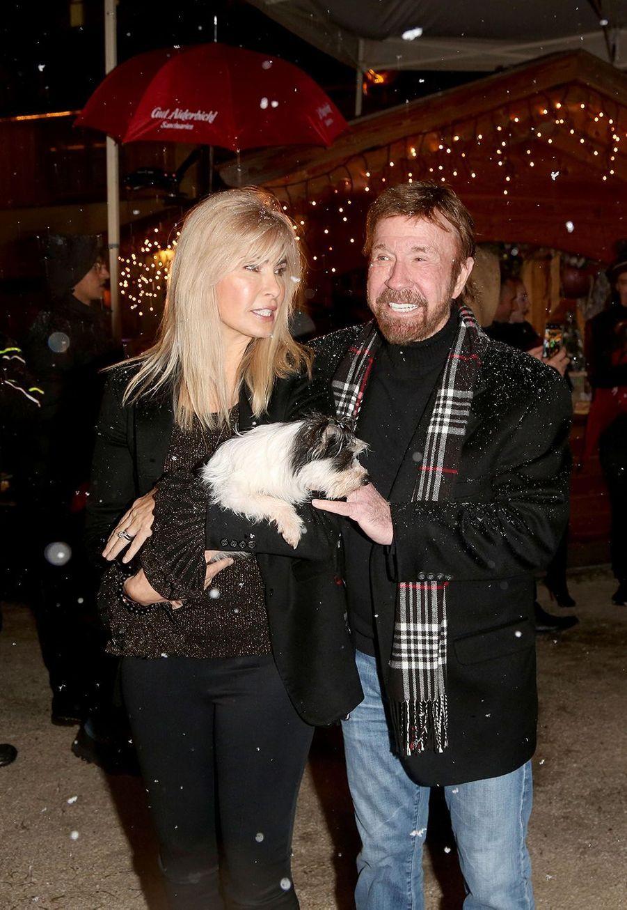 Chuck Norris et son épouseGena O'Kelley