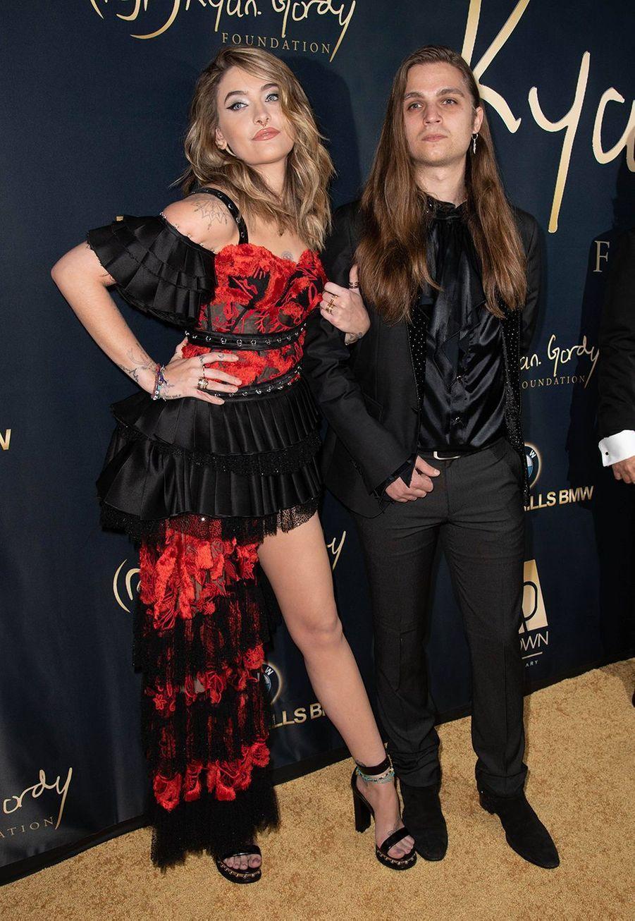 Paris Jackson et son petit ami Gabriel Glennà la soirée de gala de laRyan Gordy Foundation à Los Angeles le 11 novembre 2019