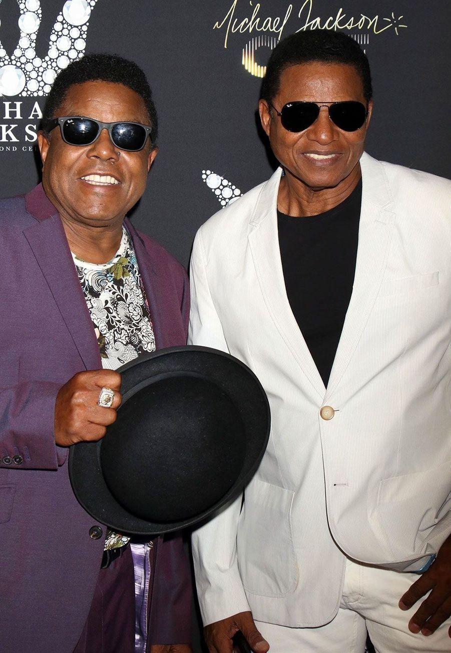 Tito et JackieJacksonà une soirée hommage à Michael Jackson, à Las Vegas mercredi