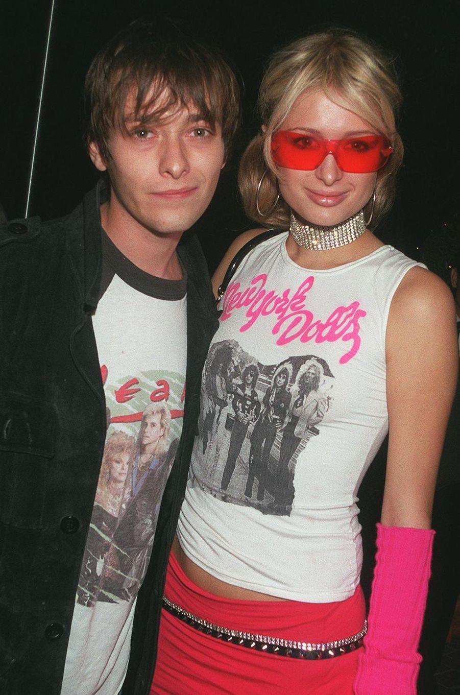 Paris Hilton et Edward Furlong (un acteur) ont eu une romance en 2000