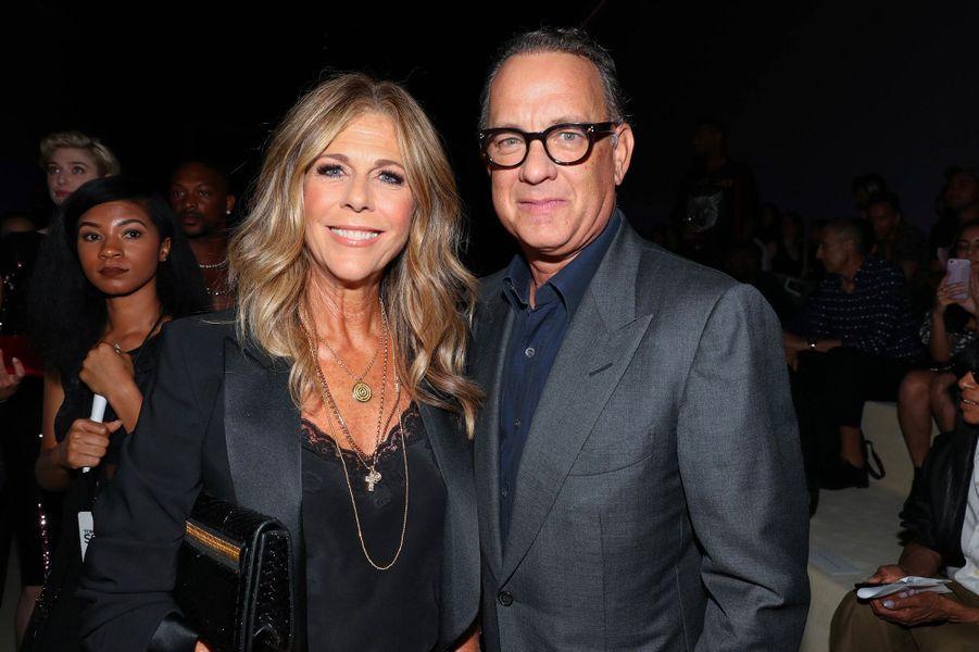 Rita Wilson et Tom Hanks au défilé Tom Ford à New York, mercredi 5 septembre