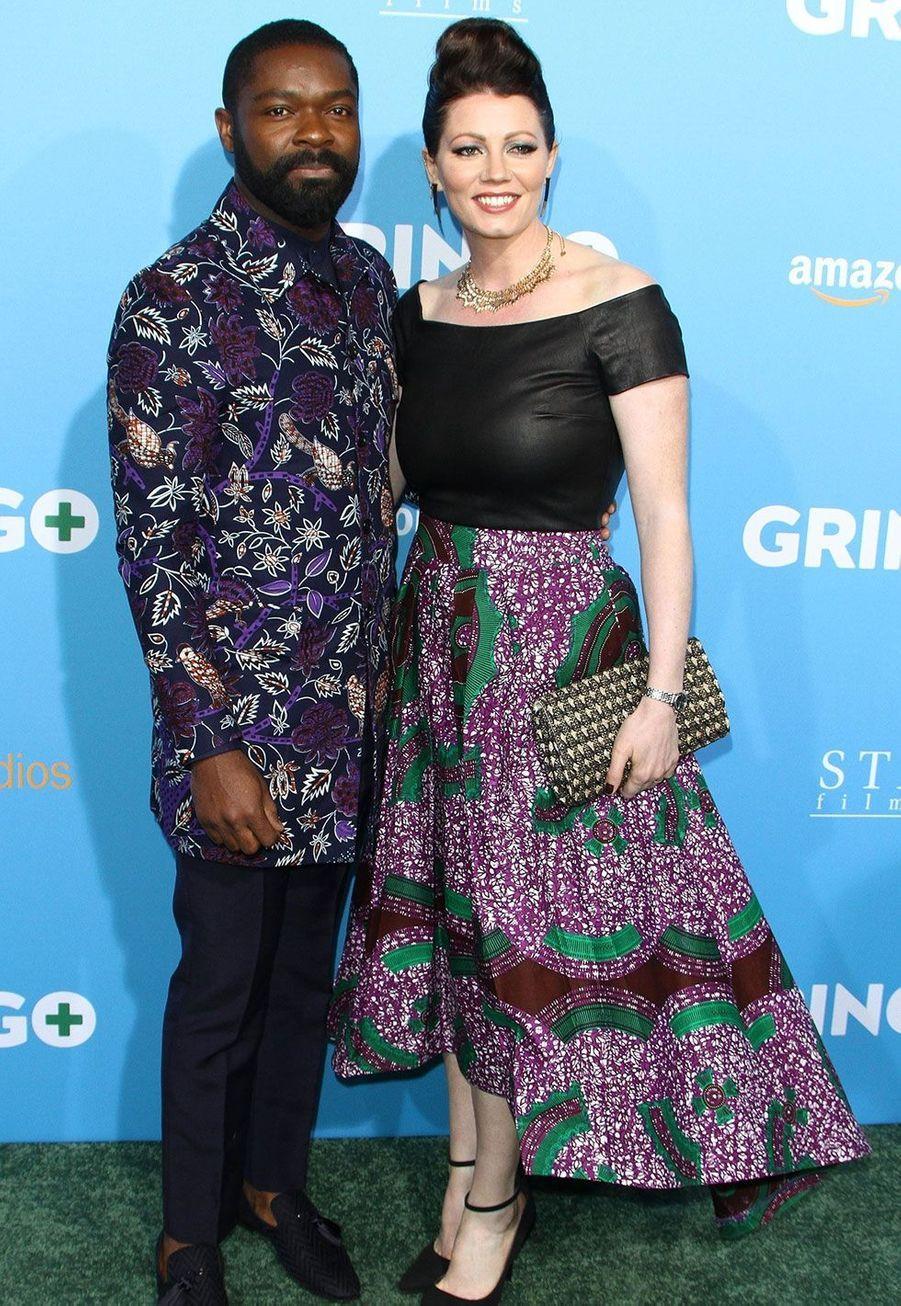 """David Oyelowo et sa femme Jessica Oyelowo à la première de """"Gringo""""Copyright :"""