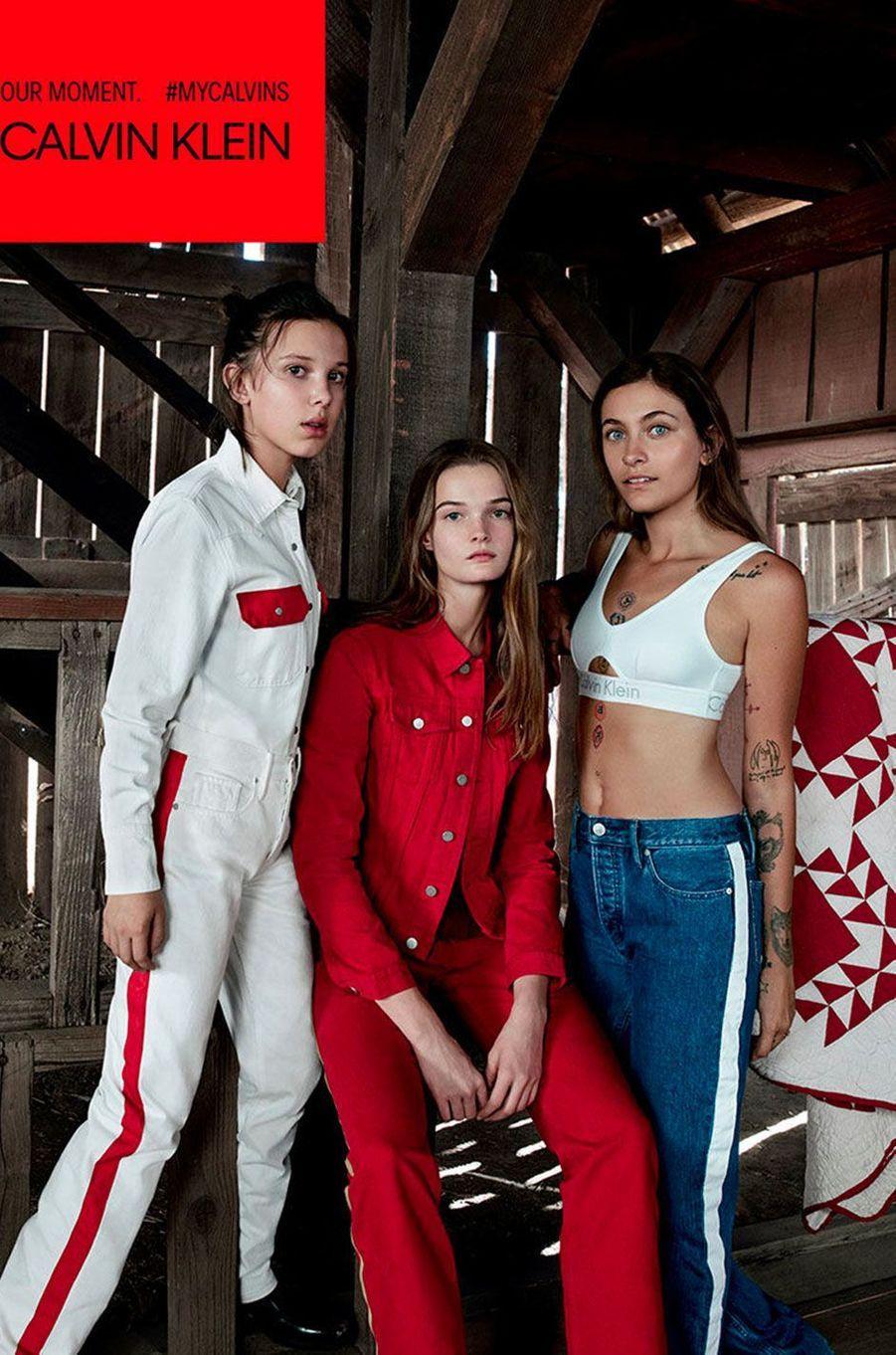 Millie Bobby Brown, Paris Jackson et Lulu Tenney pour Calvin Klein