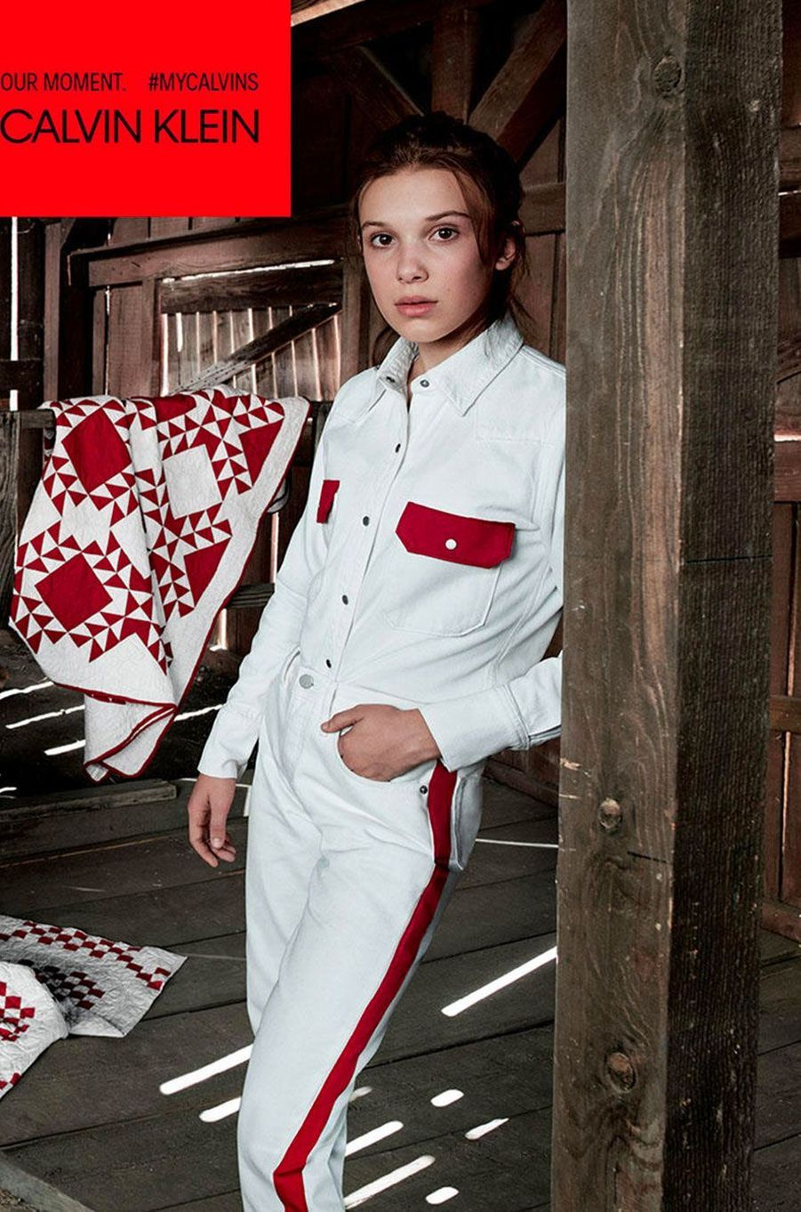 Millie Bobby Brown pour Calvin Klein