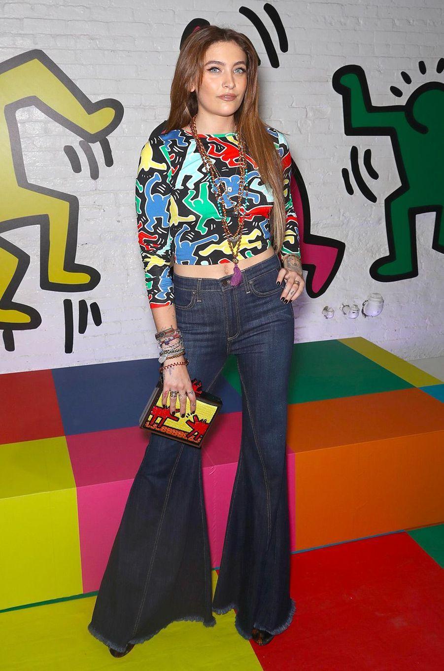 ParisJackson à la soirée de lancement de la collection Keith Haring x Alice + Olivia, à New York, mardi 13 novembre