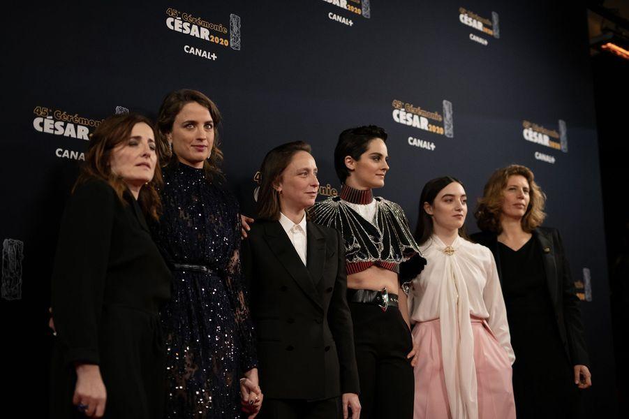 Adèle Haenel, Céline Sciamma, Noémie Merlant etLuàna Bajrami pour «Portrait de la jeune fille en feu»