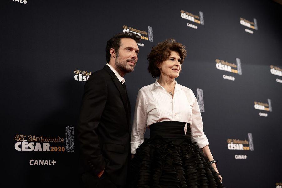 Nicolas Bedos et Fanny Ardant
