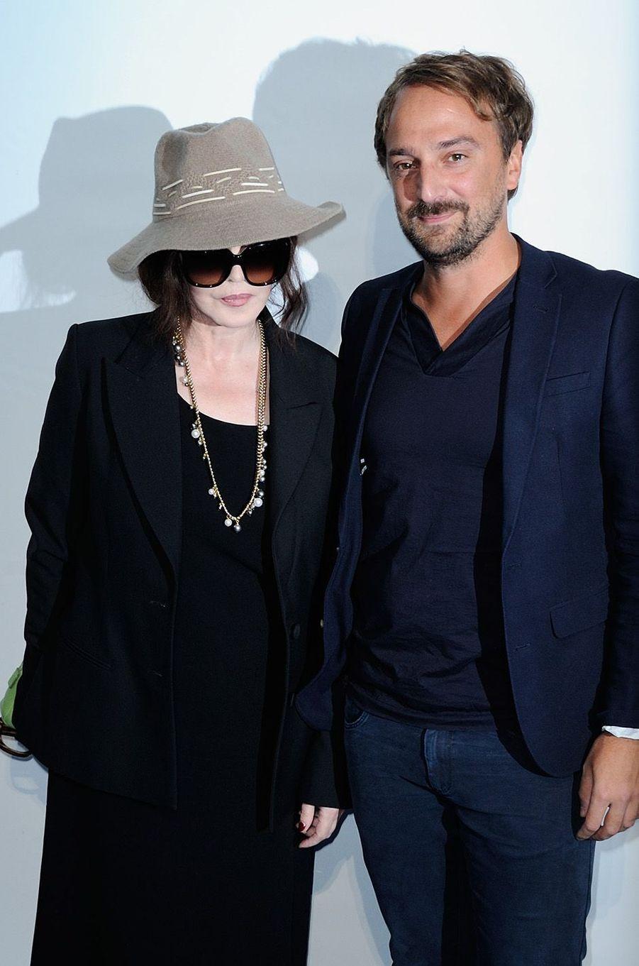 Isabelle Adjani avec Christopher Robba, à La Rochelle, le 15 septembre 2016.