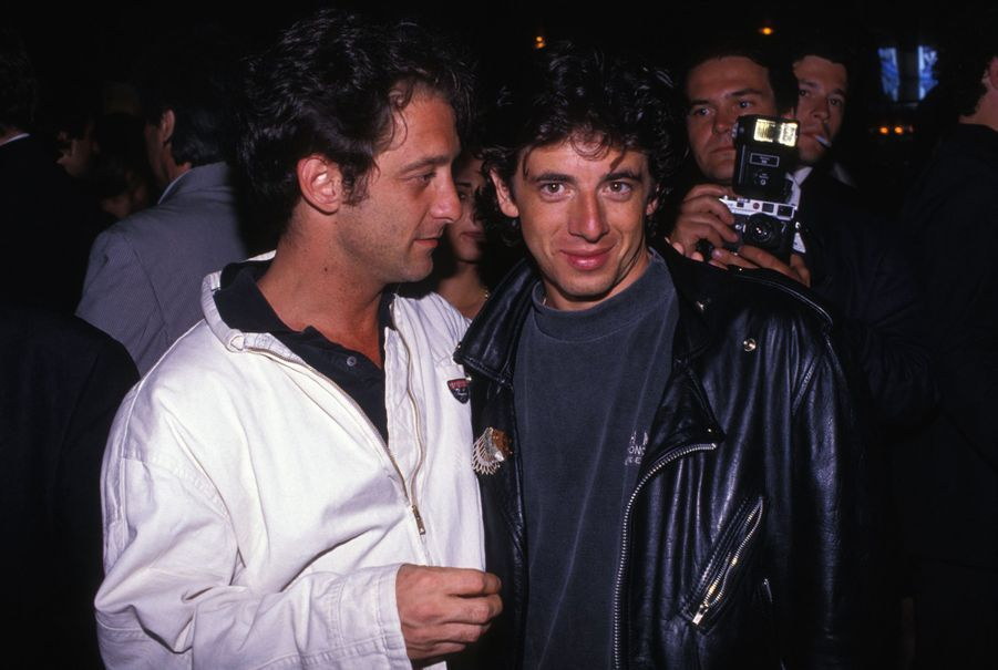 Vincent Lindon et Patrick Bruel au Festival de Cannes en mai 1990