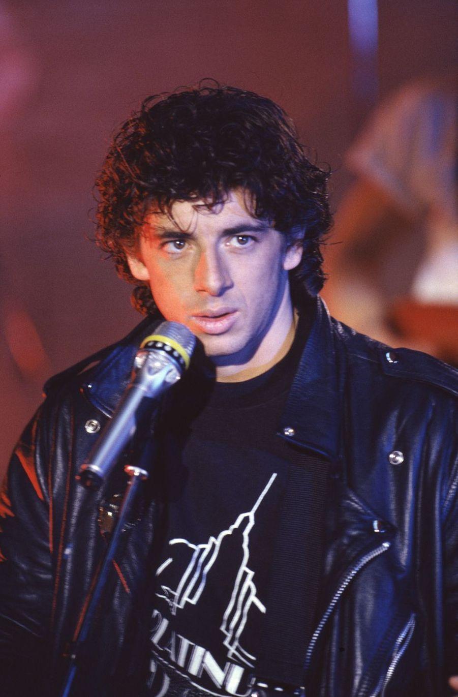Patrick Bruellors d'une émission de télévision en février 1990 à Paris