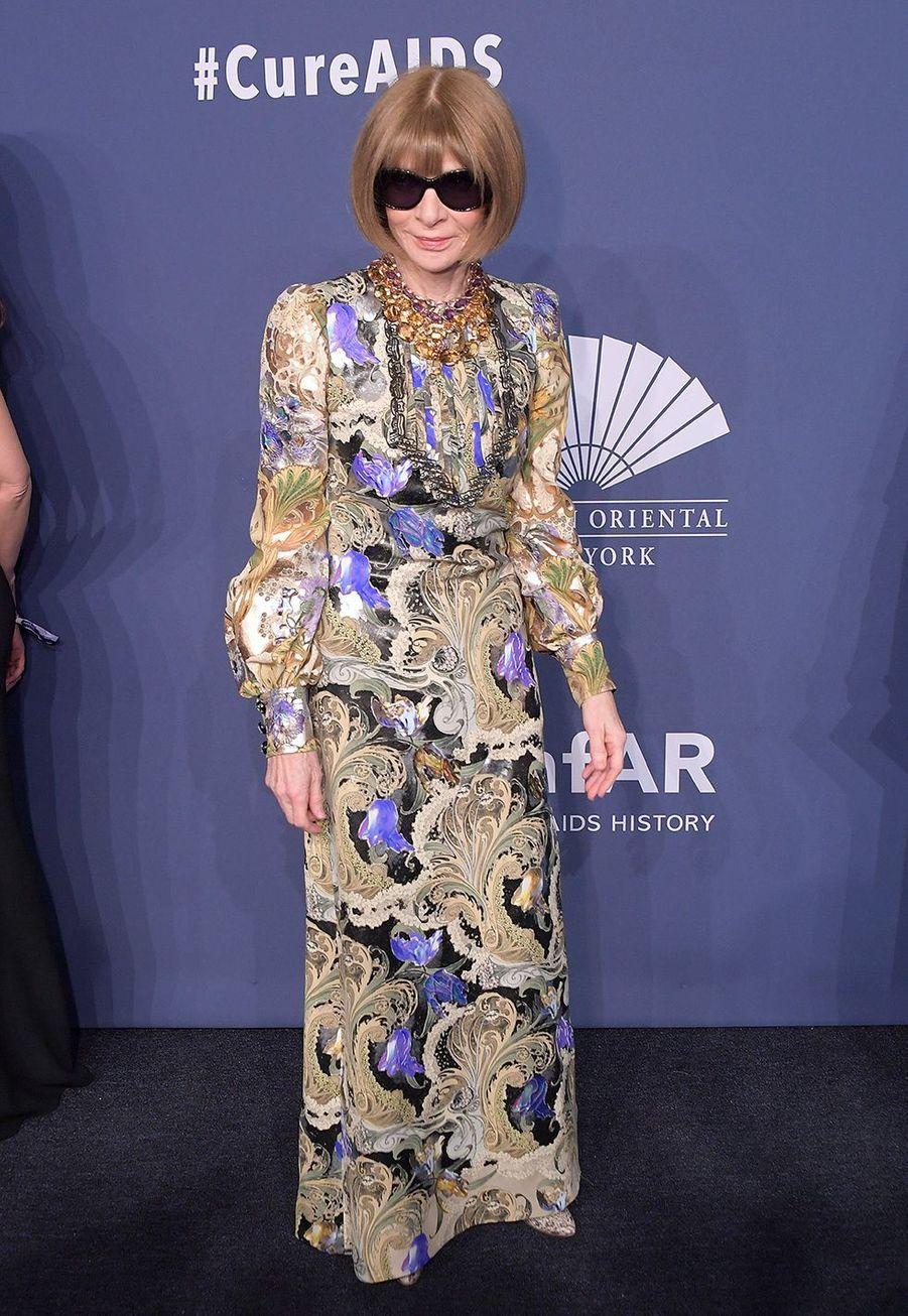 Anna Wintourau gala de l'amfAR à New York le 5 février 2020